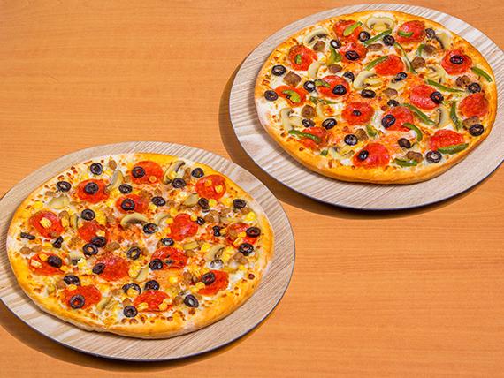 Promoción disfruta el doble - Pizza especial al gusto 2x1 (4 ingredientes)