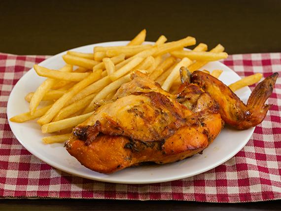 Pollo pechuga ala con acompañamiento + Soda