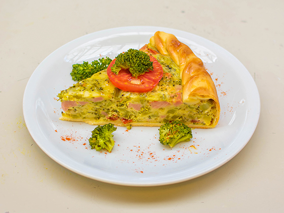 Tarta de pollo y verduras