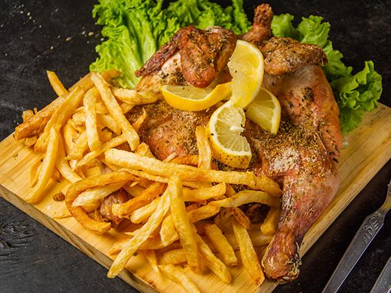 Promo 3 - Super pollo grande + papa fritas + ensalada
