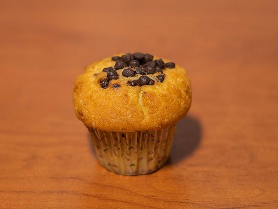 Muffin de vainilla con chips