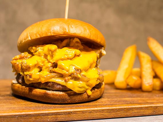 Burger a caballo