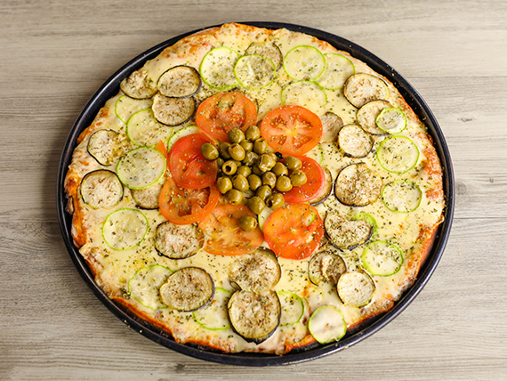Pizzeta familiar vegetariana (42 cm)