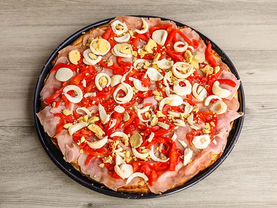 Pizzeta familiar criolla (42 cm)
