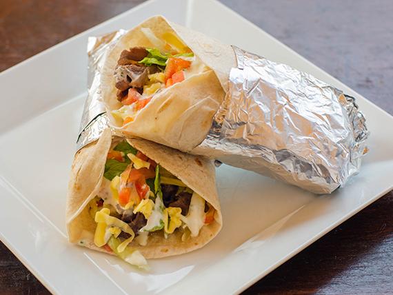 Para compartir - Burrito pollo, vacuno o mixta + bebida 350 ml