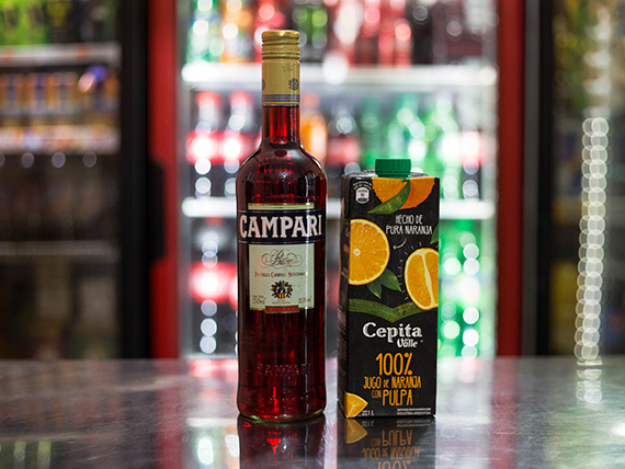 Promo - Campari 750 ml + Cepita 1 L