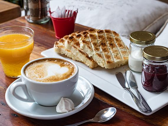 Desayuno o merienda liviano