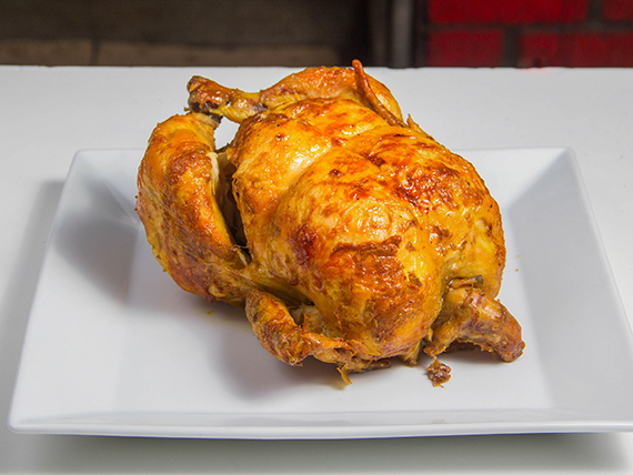 Pollo asado a las brasas