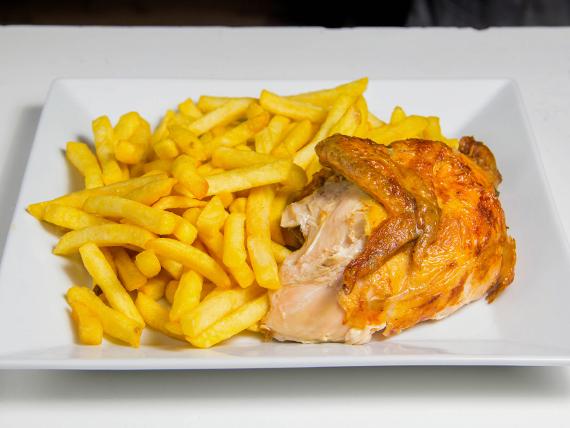 Combo 1 - 1/4 pollo + papas fritas individual