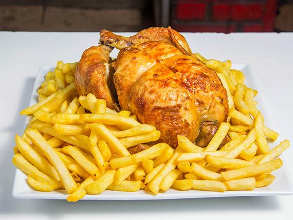 Combo 4 - Pollo + papas fritas familiar