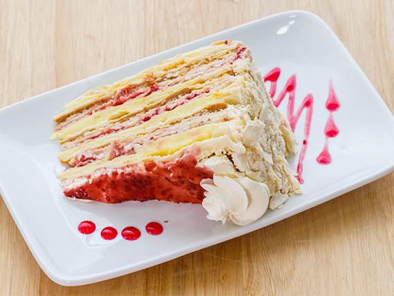 Porción de torta amor