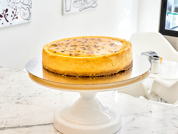 Cake cheesecake con maracuya