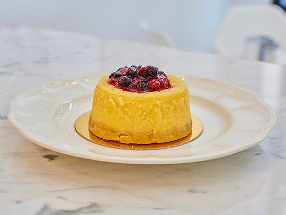 Minicake cheesecake con frutos rojos