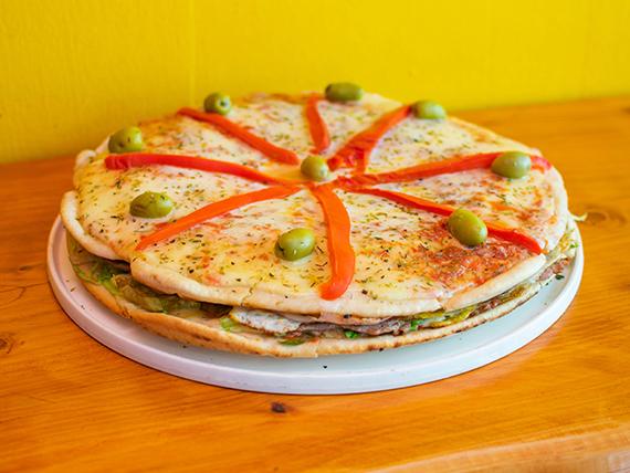 Promoción - Lomo pizza con papas fritas (para ocho)