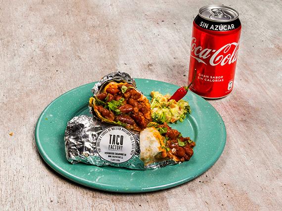 Combo personal - Burrito frijolero + bebida 350 ml lata + salsa a elección