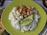Poke sushi salad salmón crispy