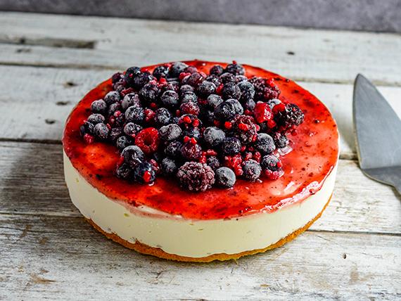 Torta chessecake de frutos rojos
