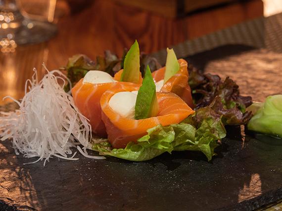 Geisha salmón fresco