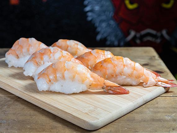 Nigiri de camarón (6 piezas)