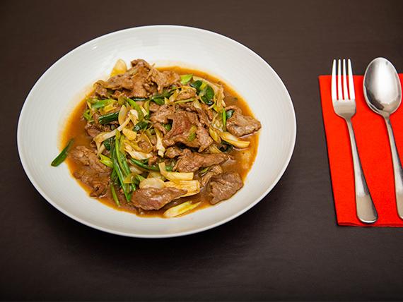 Mongoliano al wok