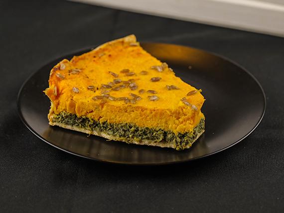 Tarta de espinaca y calabacín