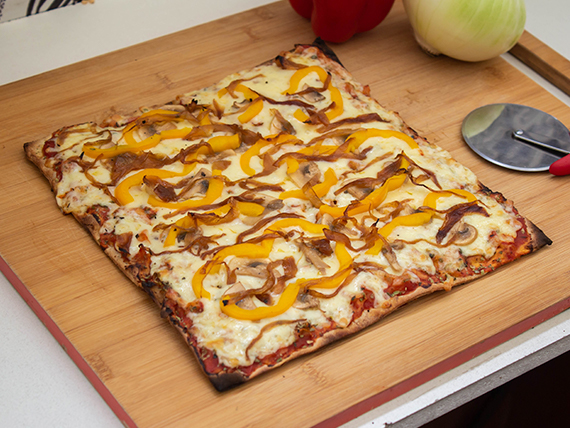 Pizza Llamamutt vegetariana familiar