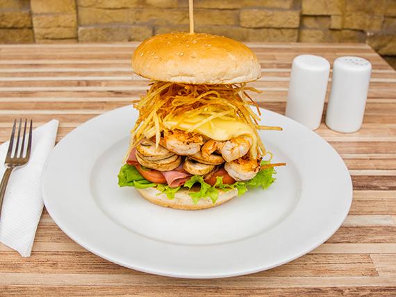 Sándwich de camarón