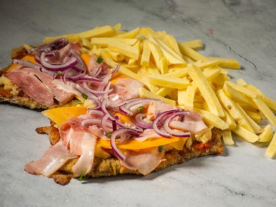 Promo 3 - Milanesa premium con papas fritas (comen 2)