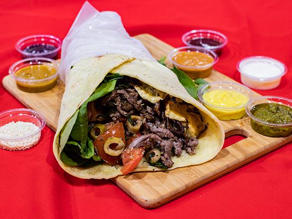 Shawarma mediterráneo con carne a elección