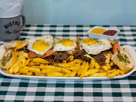 Chorrillana Snack (para 3 o 4 personas)