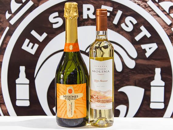 Promo - Vino Late Harvest Castillo de Molina 500 cc + Vino Espumante Misiones de Rengo Moscato 750 ml