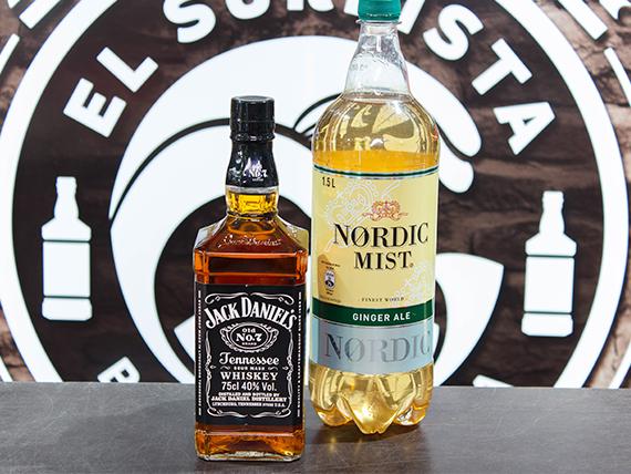 Whisky Jack Daniel's Old No.7 750 ml + bebida 1,5 L + hielo 1 kg