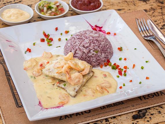 Menú 3 - Reineta a la plancha,  frita o a la mantequilla + acompañamientos + salsa