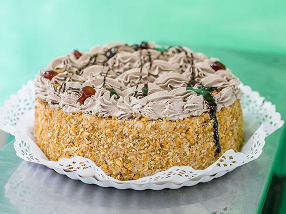 Torta mousse de chocolate con dulce de leche