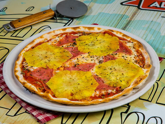 Pizza hawaiana (tamaño mediano)