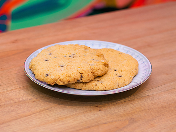Cookies avena y semillas, con chocolate negro