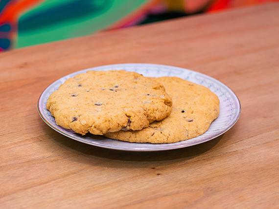 Cookie de avena y semillas con chocolate