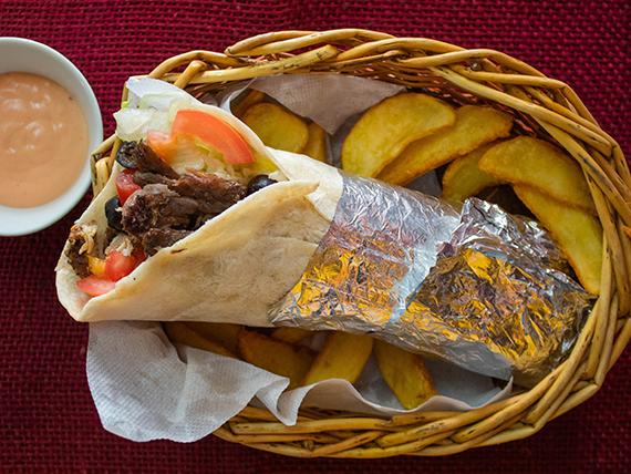 Promo - Kebab o shawarma chico + papas fritas rústicas