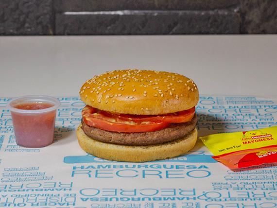 Solo hamburguesa Recreo