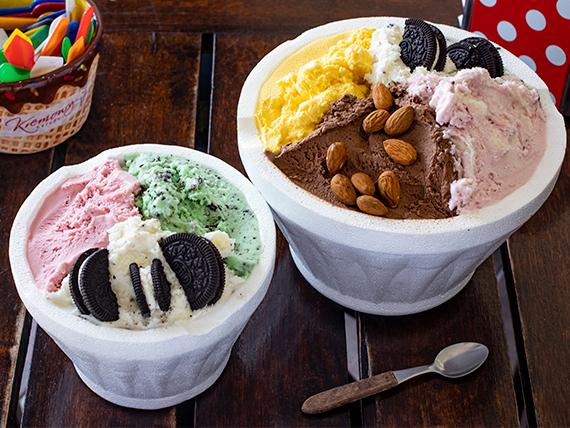 Promo - 1 kilo de helado + 1/2 kilo de helado