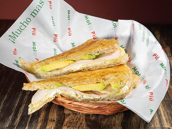 Sándwich de pavo real