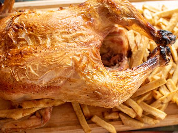 Promo - Pollo al horno con papas fritas grandes