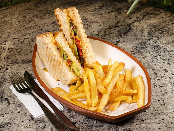 Sándwich rey vegano