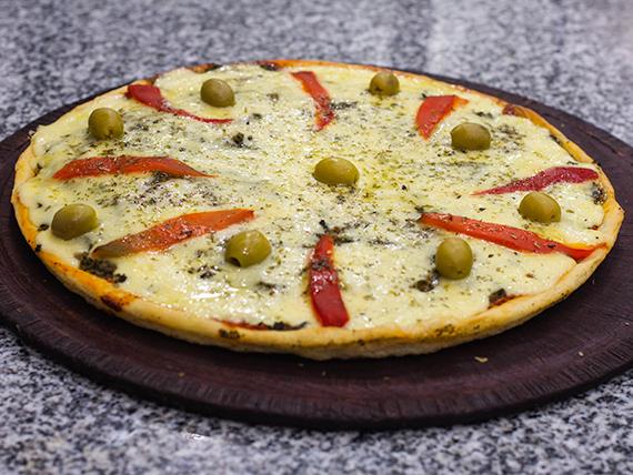Pizza con espinaca especial