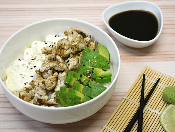 Chirashi Salad - pollo, palta y phila