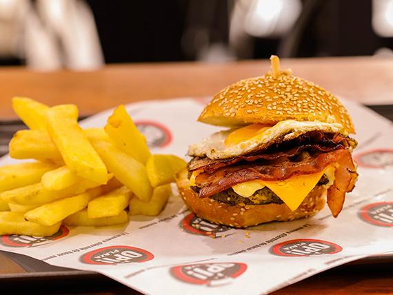 Promo - Burger Radaroos + papas rústicas + Pepsi 500 ml