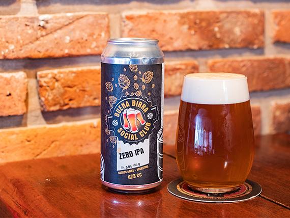 Cerveza zero IPA lata 473 ml