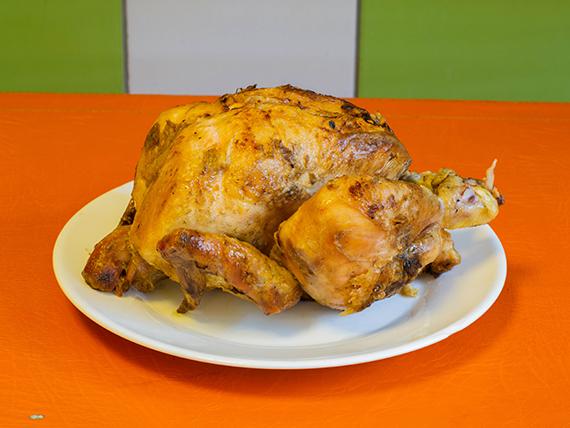 Pollo entero asado a las brasas