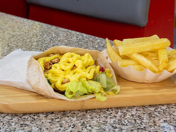 Combo - Wrap de lomo + papas fritas + Bebida 591 cc