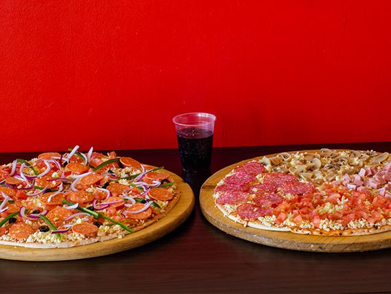 Promocion 2 - 2 Pizzas XL + bebida de 1.25 L
